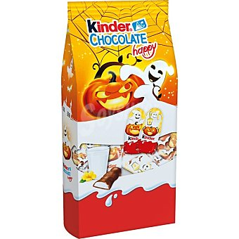 Halloween Kinder happy figuritas de chocolate con corazón de leche Estuche 107 g