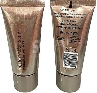 DELIPLUS Maquillaje fluido acabado satinado nº 03 Beige medio Tubo de 30 cc