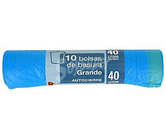 Auchan Bolsa de Basura Minigigante (40 L) 10 bolsas