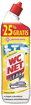 WC Net Lejía gel limón Botella 750 ml