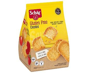 SCHAR Crostini Panecillos tostados sin gluten Envase 150 g