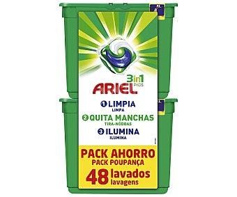 Ariel Detergente en cápsulas para lavadora con gel líquido 48 lavados
