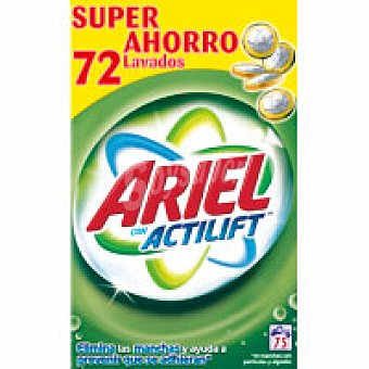 Ariel Detergente máquina en polvo Maleta 75 cacitos