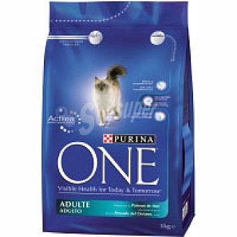 Purina One Alimento de pescado para gato adulto 3 kg