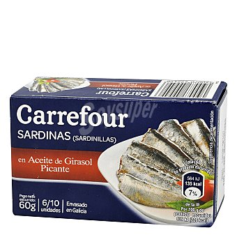 Carrefour Sardinilla picante en aceite vegetal 60 g