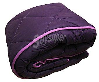 Auchan Relleno nórdico acrilíco para cama de 180 centímetros, lila bicolor, densidad de 300 gramos 1 Unidad