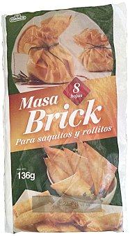 CONGALSA Masa refrigerada brick para saquitos y rollitos  Paquete 8 unidades (136g)