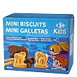 Galletas recubiertas de chocolate y leche Mini Biscuits 160 g Carrefour Kids