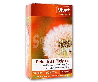 Viveplus Complemento nutricional para favorecer el crecimiento del pelo y las uñas 30 cápsulas 15 gramos