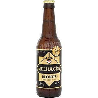 MULHACÉN Blonde cerveza rubia artesana de Granada Botella 33 cl