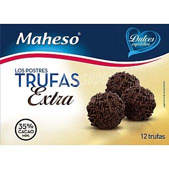 Maheso Trufas extra 35% cacao estuche 175 g 12 unidades
