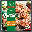 Mexicana mini pizzas de jamón y pepperoni 9 unidades Estuche 270 g Buitoni Piccolinis