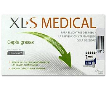 XL S MEDICAL Capta grasas, para el control del peso y la prevención y tratamiento de la obesidad 180 Comprimidos