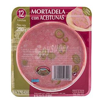 Hacendado Mortadela aceitunas lonchas Paquete 250 g