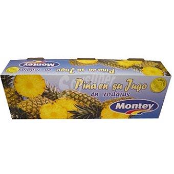 Montey Piña en su jugo Pack 3 envase 227 g