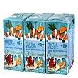 Zumo de frutas y leche sabor mediterráneo Pack de 6 briks de 20 cl Carrefour