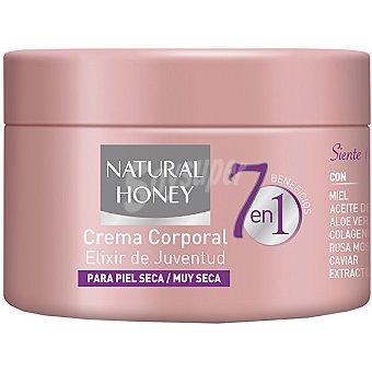 Natural Honey Crema corporal Elixir de Juventud 7 beneficios en 1 para piel seca / muy seca tarro 250 ml Tarro 250 ml