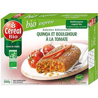 CEREAL BIO Hamburguesa vegetal de quínoa y bulgur con tomate ecológica Envase 200 g