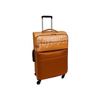 Maleta Maleta con 4 ruedas pivotantes, con estructura flexible de polyester en dos tonos diferentes de naranja, medida de 71 centímetros 71cm