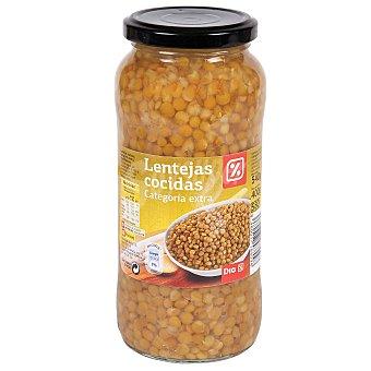 DIA Lentejas pardinas cocidas Frasco 400GR