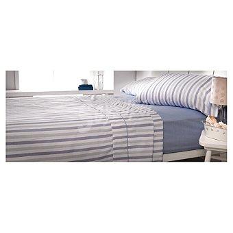 CASACTUAL Nightdress Juego de cama con rayas en color azul
