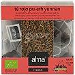 Pu-erh Yunnan té rojo ecológico caja 15 bolsitas biodegradables home  Alma