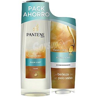 Pantene Pro-v Champú Aqua Light + acondicionador frasco 250 ml pack ahorro Frasco 300 ml