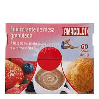 Amagoldi Edulcorante de mesa granulado en sobres Pack de 60x1 g