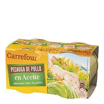 Carrefour Pechuga de pollo en aceite 2 unidades de 42 g