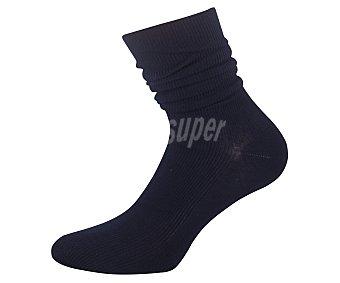 Kler Calcetines de algodón sin puño Sujetsol, color marino, talla M