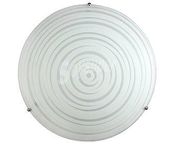KUBE ILUMINACIÓN Galaxy Plafón redondo color blanco, diámetro 30 cm. con soporte metálico. ILUMINACIÓN.