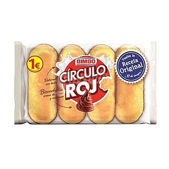 Bimbo Pastel Círculo Rojo relleno crema de cacao y avellanas Pack de 4 x 38 g