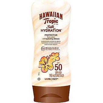 Hawaiian Tropic loción solar protectora silk hidratante FP-50  frasco 180 ml