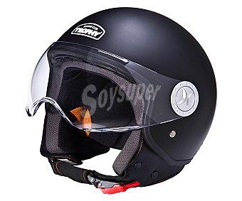 TROPHY Casco de moto homologado, modelo Jet Plus color negro 1 unidad