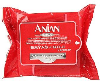 Anian Toallitas desmaquillantes suaves 20 unidades
