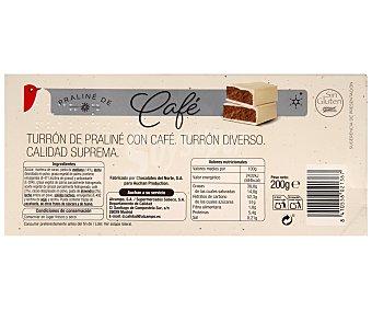 Auchan Turrón praliné de café 200 gramos