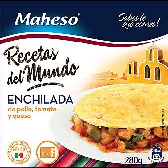 Maheso Enchilada mexicana de pollo tomate y queso Estuche 280 g