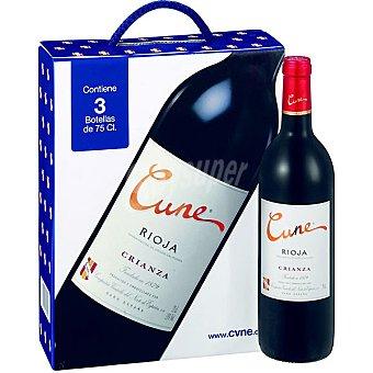Cune Vino tinto crianza DO. Rioja Estuche 3 botellas 75 cl