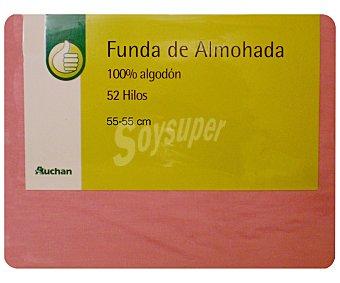 Productos Económicos Alcampo Funda Almohada 55x55 Salmón 1 unidad