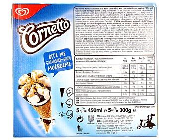 Frigo Cornetto Cono de helado de nata con barquillo y chocolate 5 unidades 450ml