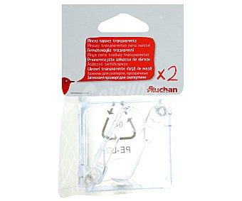Auchan Pack de 2 pinzas transparentes para manteles 1 Unidad
