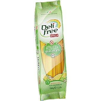 DIVELLA DELI FREE espagueti de maíz y arroz sin gluten  envase 500 g
