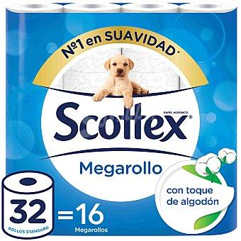 Scottex Papel higiénico Megarollo Paquete 16 rollos