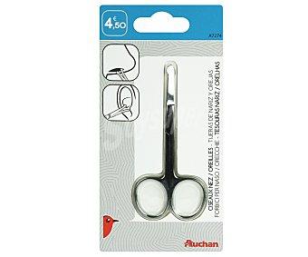Auchan Tijeras afiladas para cortar los pelos de la naríz y las orejas con puntas romas 1 unidad