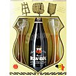Cerveza Belga estuche especial con 2 vasos botella 75 cl botella 75 cl Kwak