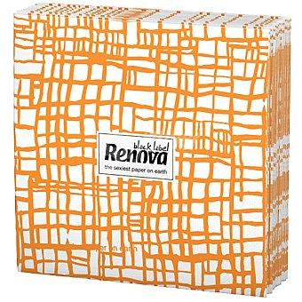 Renova Servilletas Black Label abstracta naranja paquete 12 unidades Paquete 12 unidades