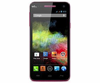 "WIKO RAINBOW FUCSIA Smartphone libre wiko rainbow Fucsia, procesador: Quad Core 1,3GHz, Ram: 1GB, almacenamiento: 4GB ampliable mediante tarjeta microsd, pantalla: IPS 5.0"" Smartphone libre"