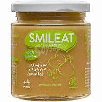Smileat Potito de manzana-pera-cereales ecológicos Tarro 230 g
