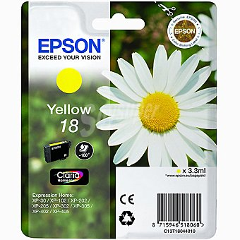 Epson Nº 18 cartucho de tinta color amarillo