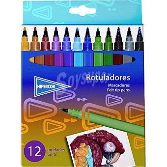 HIPERCOR 80158HPC Estuche con 12 rotuladores de colores